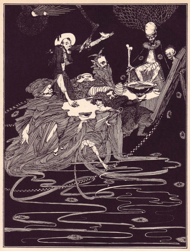 Edgar Allen Poe - King Pest - Illustration by Harry Clarke