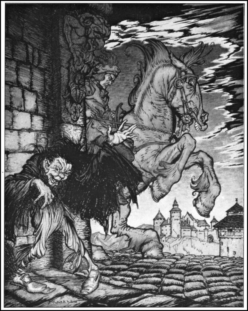 Edgar Allen Poe - Metzengerstein - Illustration by Arthur Rackham