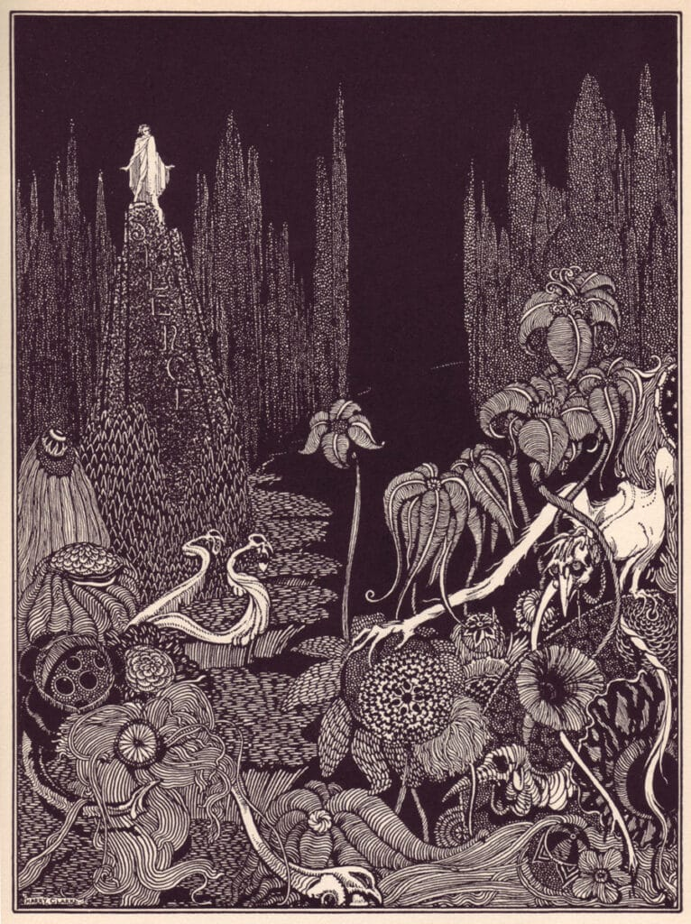 Edgar Allen Poe - Silence - A Parable - Illustration by Harry Clarke