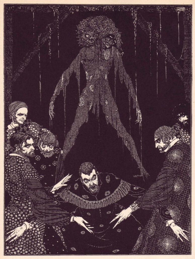 Edgar Allen Poe - The Black Cat - Illustration by Harry Clarke