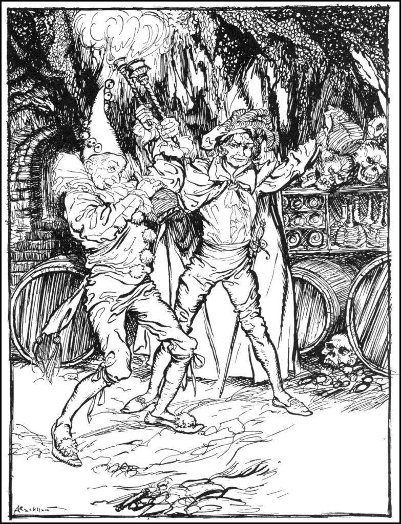 Edgar Allen Poe - The Cask of Amontillado - Illustration by Arthur Rackham