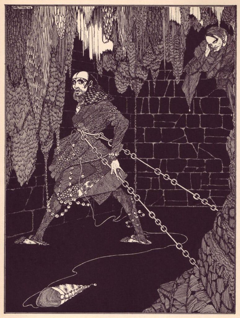 Edgar Allen Poe - The Cask of Amontillado - Illustration by Harry Clarke