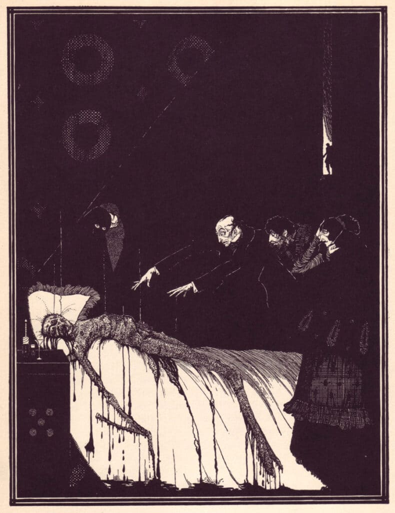 Edgar Allan Poe - The Facts in the Case of M. Valdemar - Illustration by Harry Clarke