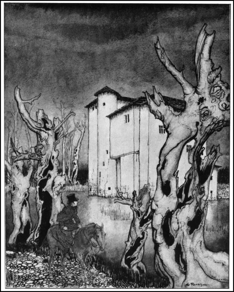 Edgar Allan Poe - The Fall of the House of Usher - Illustration by Arthur Rackham