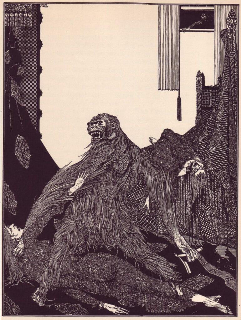 Edgar Allan Poe - The Murders in the Rue Morgue - Illustration by Harry Clarke