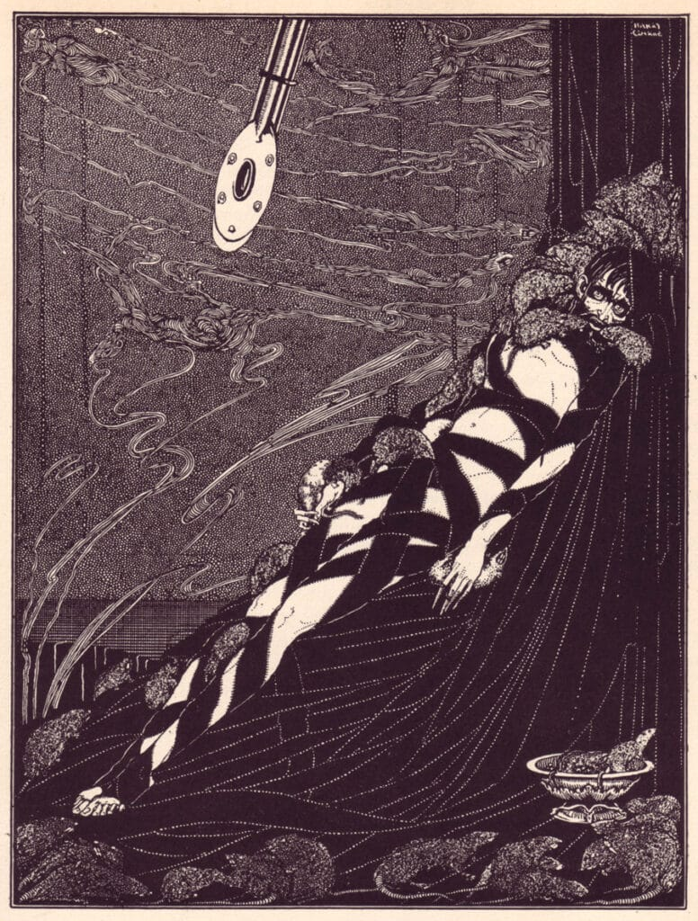 Edgar Allan Poe - The Pit and the Pendulum - Illustration by Harry Clarke 2