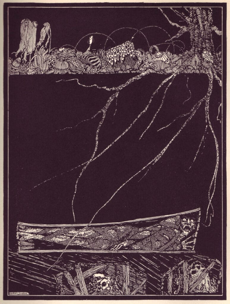 Edgar Allan Poe - The Premature Burial - Illustration by Harry Clarke