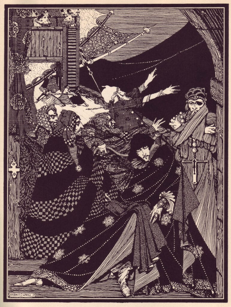 Edgar Allen Poe - MS. Found in a Bottle - Illustration by Harry Clarke